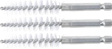Cepillo de nylon 13 mm 6,3 mm (1/4) 3 piezas