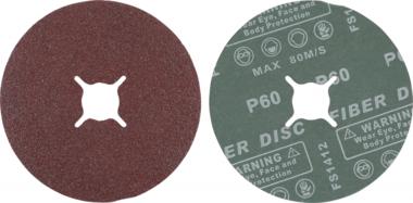 Juego de discos abrasivos de fibra granulacion de 60 oxido de aluminio 10 piezas