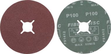 Juego de discos abrasivos de fibra granulacion de 100 oxido de aluminio 10 piezas
