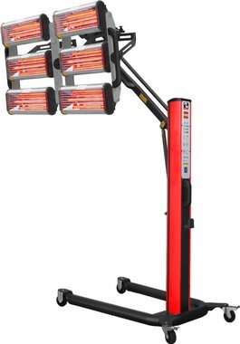 Secador de pintura infrarroja con 6 lámparas