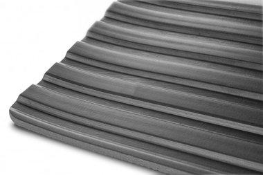 Caucho en rollo 10mx1200mmx6mm ancho nervio negro