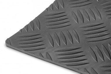 Goma por metro lineal 1mx1200mmx3mm Placa de control negra