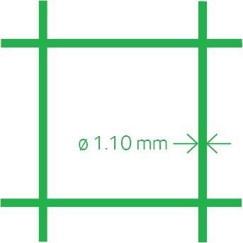 Malla para aviarios PVC 13x1,1 50 cm x 10 m
