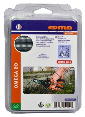 Curvas de anillo Edma Omega 20 mm Crapo 1000 piezas