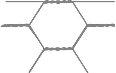 Malla hexagonal Avigal 40x0,9 100 cm x 50 m
