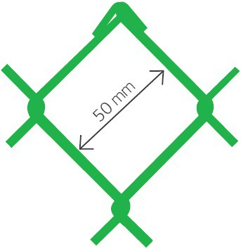 Armonica Accordo PVC verde Ral 6005 50x2,7 x 180 cm