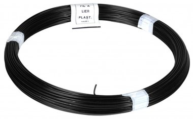 Cordel PVC negro 100 m 1,4/2,0 mm
