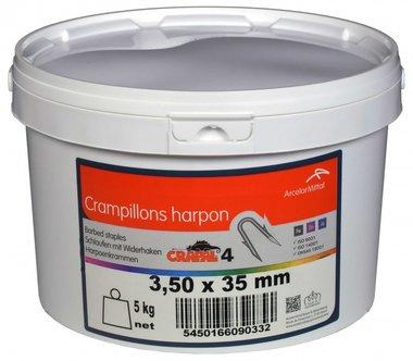 Abrazaderas de arpon Crapal4 3.5x3.5 mm 5 kg