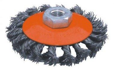 Cepillo de acero plano de 115mm de diametro torcido