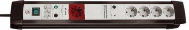 Protector de sobretensión Premium-Line 5 bandas negro/gris claro 3 m