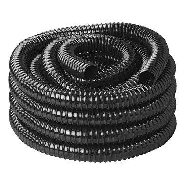 Manguera para aguas residuales, negra 10 m / 25 mm
