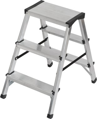 Escalera de tijera doble de aluminio 2x3 peldanos Escalera de altura 0,61m
