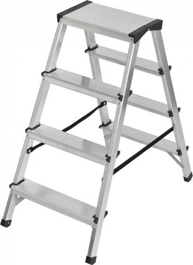 Escalera de tijera doble de aluminio 2x4 peldanos Escalera de altura 0,82m