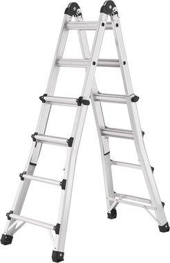 Escalera telescopica multifuncional de aluminio 4x4