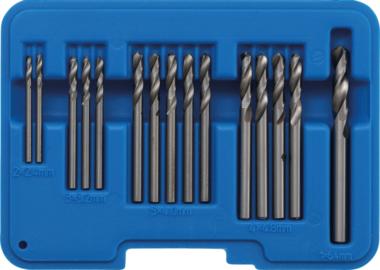 Juego de brocas de remaches ciegos HSS 2,4 - 6,4 mm 15 piezas