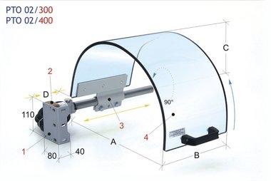 Pantalla monolítica de protección de la mordaza 0-200mm
