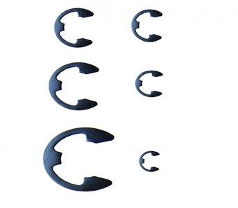 Surtido métrico de E-Clip de 300 piezas, 1,5-22 mm
