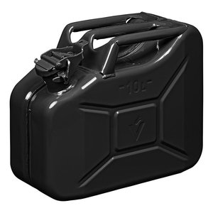 Jerry can 10L metal black UN- & TüV/GS-approved
