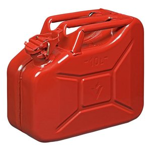 Jerry can 10L metal red UN- & TüV/GS-approved